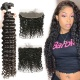 Lace Frontal With 3 Bundles Standard Virgin Brazilian Deep Wave Human Hair Extensions