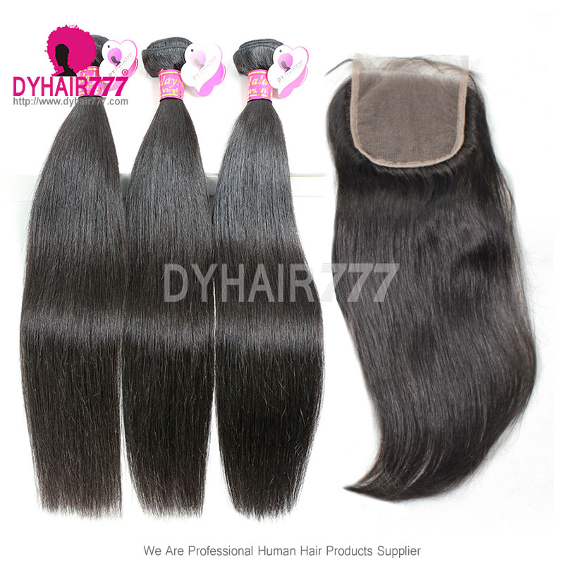 Best Match Top Lace Closure With 3 Or 4 Bundles Royal Virgin Remy