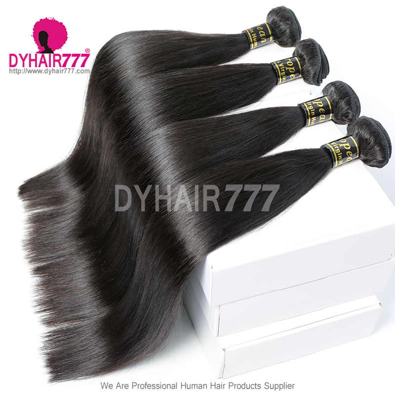 Top Lace Closure With 3 Or 4 Bundle European Silky Straight Hair