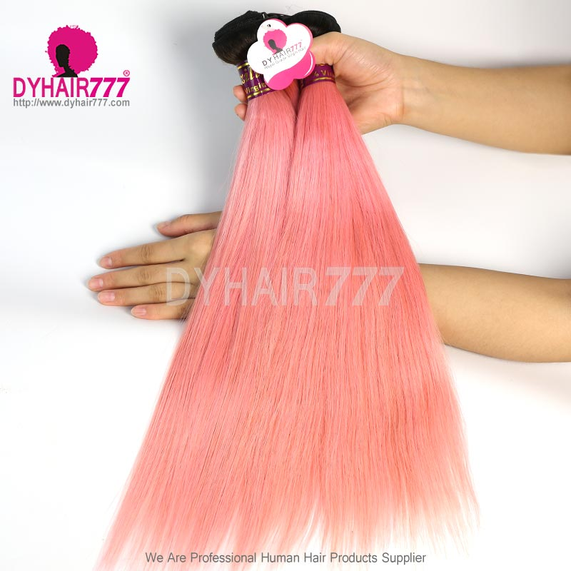 1bpink 3 Or 4 Bundles With 4x4 Lace Closure Royal Virgin Remy Hair