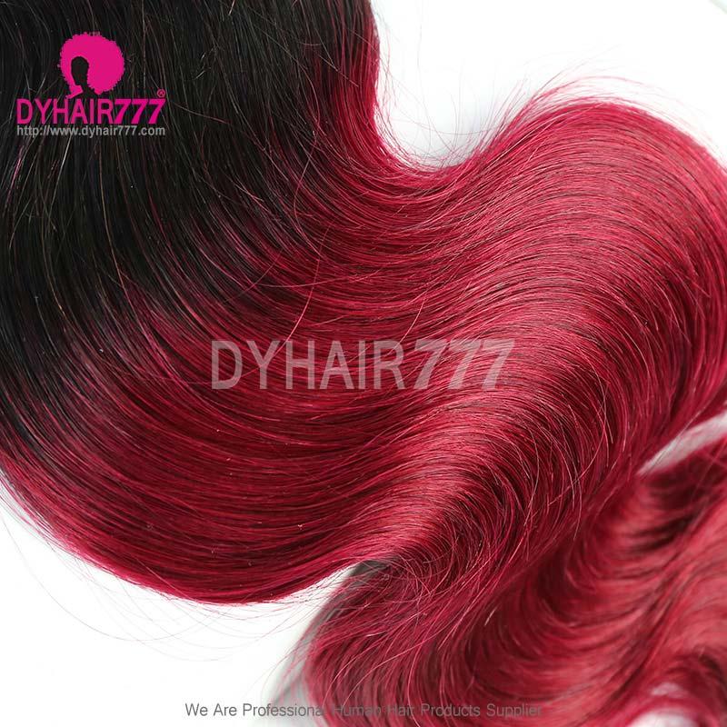 3 Or 4pcslot 1b99j Brazilian Hair Weave Bundles Burgundy Hair Non