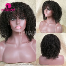 Full Lace Wig 180% Density Human Hair Natural Color Customize Wig 5 Working Days Ready CWB10-F