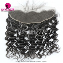 Ear to Ear 13*4 Lace Frontal Closure Virgin Human Hair Loose Wave Natural Color