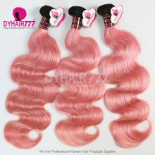 3 or 4pcs/lot Royal Grade Brazilian Body Wave 1B/Pink Ombre Human Hair Extension