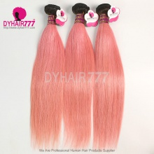 1B/Pink Ombre Hair Extension Royal Brazilian Virgin Straight Hair 3 or 4 Bundles