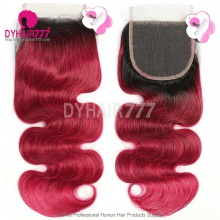 Lace Top Closure (4*4) Body Wave 1B/99JHuman Virgin Hair