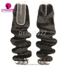 Size 2x6 Lace Top Closure Body Wave Human Virgin Hair Middle Part
