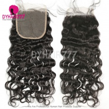 5* 5 Lace Top Closure Natural Wave Natural Color Virgin Human Hair Swiss lace