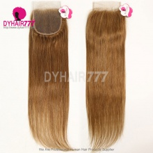 Color 8 Lace Top Closure (4*4) Straight Hair Human Virgin Hair
