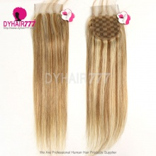 Color P8/613 Lace Top Closure (4*4) Straight Hair Human Virgin Hair