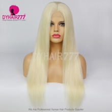 Closure Wig 180% Density Color 60 Lace Wig Straight Hair 100% Virgin Human Hair