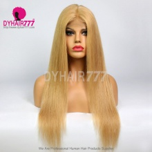 Closure Wig 180% Density Color 520 Lace Wig Straight Hair 100% Virgin Human Hair