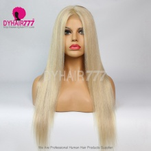 Closure Wig 180% Density Color P18/613 Lace Wig Straight Hair 100% Virgin Human Hair