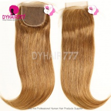 Color 6 Lace Top Closure (4*4) Straight Hair Human Virgin Hair