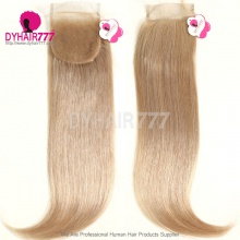 Color 18 Lace Top Closure (4*4) Straight Hair Human Virgin Hair