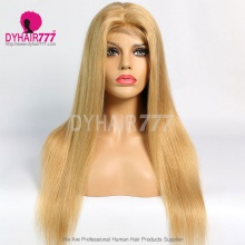 Closure Wig 180% Density Color 27 Lace Wig Straight Hair 100% Virgin Human Hair