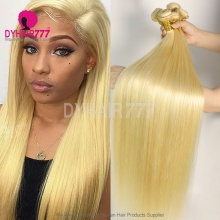 3 or 4 Bundles Deals Color 613 Bleach Blonde European Human Hair Straight Extensions