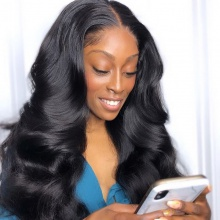 180% density Top Quality Virgin Human Hair Body Wave Full Lace Wigs