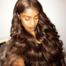 4# Top Quality Virgin Human Hair Body Wave Full Lace Wigs