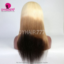 Stylist Wig As Picture 7Days to Ready 100% Virgin Human Hair Straight Three Tone Ombre Color