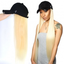 613 Blonde Color Cap Hair Extension Hat Wig 100% Virgin Human Hair Top Quality
