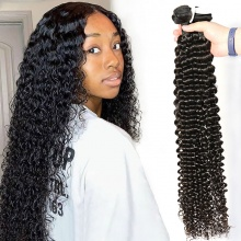 3 or 4 Bundle Deals Standard Virgin Hair Cambodian Deep Curly Human Hair Extensions