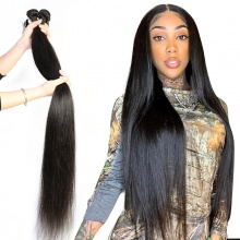 1 Bundle Good Quality Straight Hair Weft Wholesale Brazilian Standard Virgin Hair Black Color Long Hair Extensions
