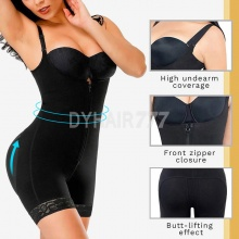 Women Body Shaper Cculpting Zip Bodysuit Vest Waist Shaper Shapewear Butt Lifter Tummy Enhancing