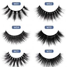 3 pairs/box Single Terrier Imitation Mink Eyelashes (6 models can be selected)