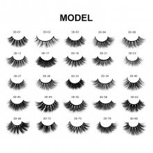 1 Pair 3D Mink Hair Black Makeup Eyelashes ( 25 models can be selected )